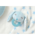 PLUSH TOY BLUE BUNNY TEETHER