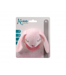 RATTLE PLUSH TOY PINK BUNNY