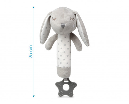 PLUSH TOY PINK BUNNY TEETHER