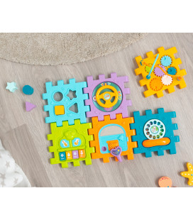 BLUE BUNNY MUSICAL STUFFED TOY