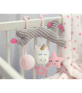 PINK BUNNY MUSICAL STUFFED TOY
