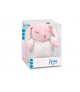 PELUCHE MUSICAL LAPIN GRIS