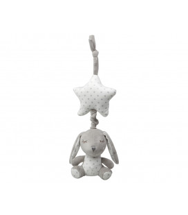 PACIFIER CHAIN HOLDER CLIP GREY