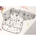 HOT WATTER BOTTLE WITH COSY GREY STARS FLUFFY COVER