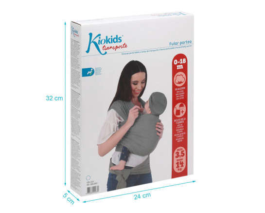 Baby wrap carrier stretch red