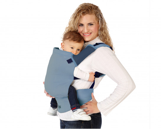 Baby wrap carrier stretch blue